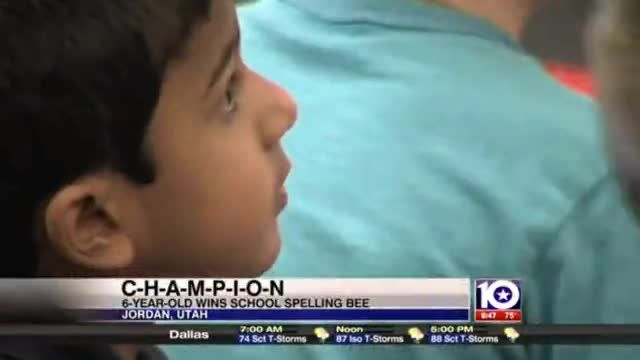 News video: Kindergartner beats entire school to become spelling bee champ