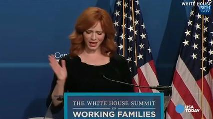 News video: Mad Men's Christina Hendricks speaks on working moms