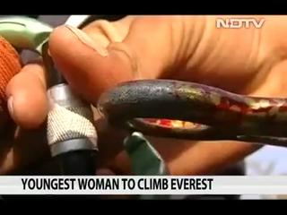 News video: Teen from Andhra Pradesh is Youngest Woman to Conquer Mount Everest